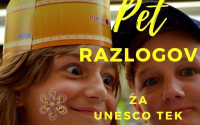 PET razlogov za PETI UNESCO ASP tek