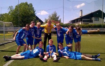 Zmaga na nogometnem turnirju Domžalske regije